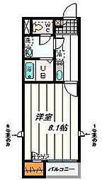 埼玉県さいたま市緑区芝原2の賃貸アパートの間取り