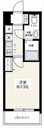 ライジングプレイス桜木町二番館 10階1Kの間取り