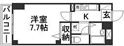 NMBB新倉敷[201号室]の間取り