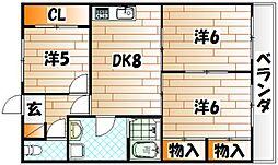 古恵良ビル[4階]の間取り