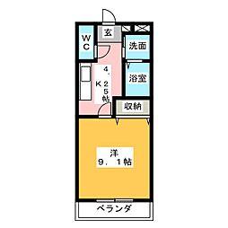 (仮)水戸市赤塚新築マンション[1階]の間取り