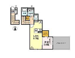 東京メトロ丸ノ内線 荻窪駅 徒歩10分の賃貸アパート 1階1LDKの間取り