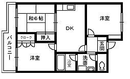 ソシア加茂[3階]の間取り