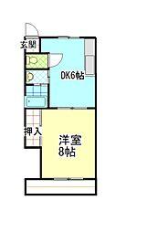 サンシャインパート2[303号室号室]の間取り