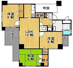 エステートマンション大濠グランディール[1階]の間取り