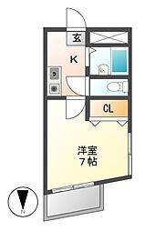 メイセイハイツI[6階]の間取り