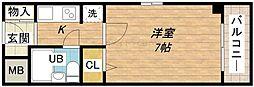 ライオンズマンション東本町第3[9階]の間取り