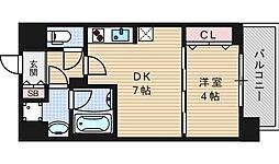 セイワパレス京町堀[11階]の間取り