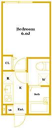 キートス踊場[2階]の間取り