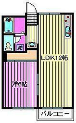 桜丘ローズマンション[3階]の間取り