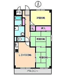 エクセルダイドー 403[4階]の間取り