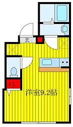 JR京浜東北・根岸線 王子駅 徒歩10分の賃貸マンション 3階ワンルームの間取り