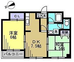 ファミーユ・パレ[3階]の間取り