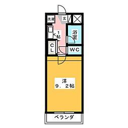 ジュネス猪高台[1階]の間取り