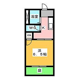 サンハイツ前田 A[1階]の間取り