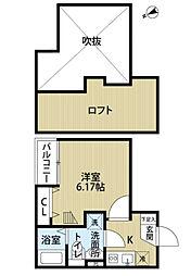 チェルカーレ箱崎[2階]の間取り