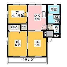 静岡県静岡市葵区羽鳥5の賃貸アパートの間取り