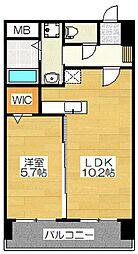 ピュア博多駅南弐番館[6階]の間取り
