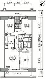 稲毛海岸駅前プラザ[5階]の間取り