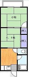 東京都足立区六月1丁目の賃貸アパートの間取り