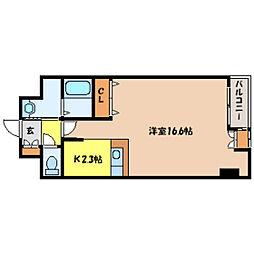 北海道札幌市中央区北三条西17丁目の賃貸マンションの間取り