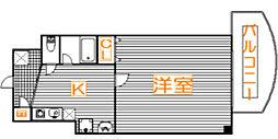 埼玉県さいたま市大宮区宮町5の賃貸マンションの間取り
