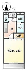 愛知県日進市藤塚3丁目の賃貸アパートの間取り