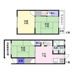[テラスハウス] 大阪府大阪市住吉区山之内5丁目 の賃貸【/】の間取り