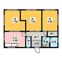 [一戸建] 静岡県焼津市柳新屋 の賃貸【/】の間取り