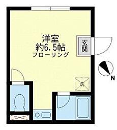 西武池袋線 東長崎駅 徒歩5分の賃貸マンション 1階ワンルームの間取り