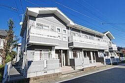 群馬県高崎市下中居町の賃貸アパートの外観