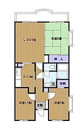 宮の杜パーク[3階]の間取り