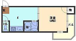 ピュアスモトB棟[5階]の間取り
