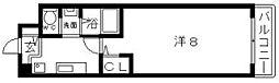マンション芦紅[5階]の間取り