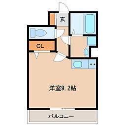 兵庫県尼崎市杭瀬寺島1丁目の賃貸アパートの間取り