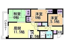 北海道札幌市豊平区平岸六条17丁目の賃貸マンションの間取り