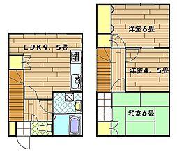 [テラスハウス] 神奈川県横須賀市久比里2丁目 の賃貸【/】の間取り