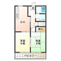 兵庫県神戸市垂水区星陵台4丁目の賃貸アパートの間取り