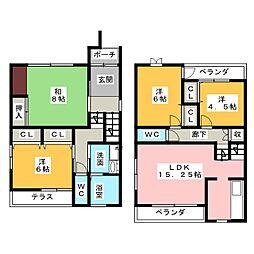 [一戸建] 愛知県名古屋市中村区稲葉地町7丁目 の賃貸【/】の間取り