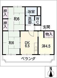 小野ハイツB[3階]の間取り