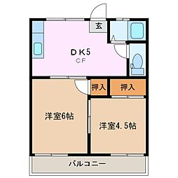 桜ヶ丘マンション[2階]の間取り