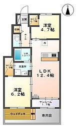 中冨居賃貸アパート新築工事[1階]の間取り
