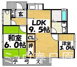 [一戸建] 福岡県大野城市中央2丁目 の賃貸【/】の間取り