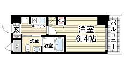 エステムプラザ神戸大開通ルミナス[506号室]の間取り