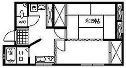 第1 牧野ビル[3F南東号室]の間取り