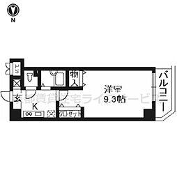 プラネシア星の子京都駅前[301号室]の間取り