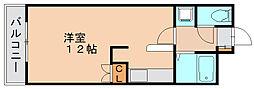 ロイヤルセブンハイツ2[4階]の間取り