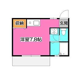 埼玉県所沢市東狭山ケ丘6丁目の賃貸アパートの間取り