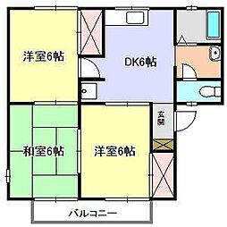 セジュール森田[2階]の間取り