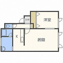 Kaen[1階]の間取り